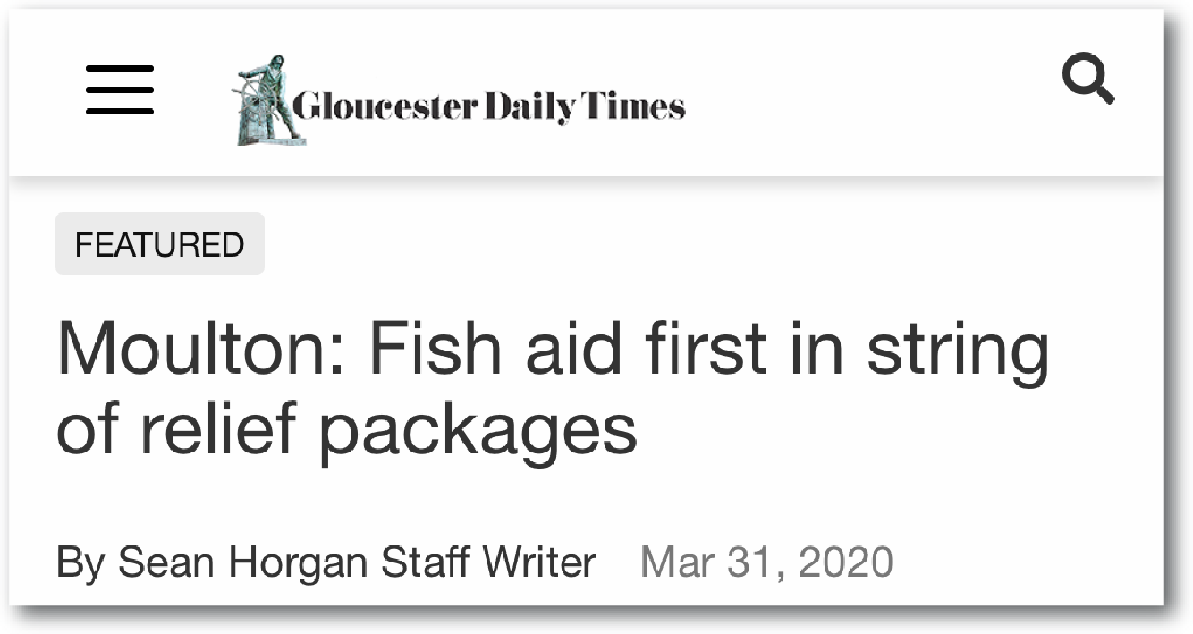 Gloucester Daily Times - Fishing Aid First